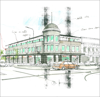 Interesting Architecture Buildings Sketch Building Drawing With